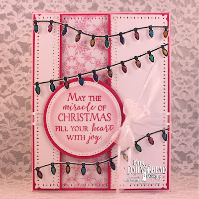Our Daily Bread Designs Stamp Set: Merry & Bright, Our Daily Bread Designs Paper Collection: Snowflake Season, Our Daily Bread Designs Custom Dies:Christmas Lights, Snowflake Sky, Pierced Circles, Circles