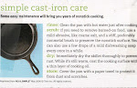 Real Simple cast iron care