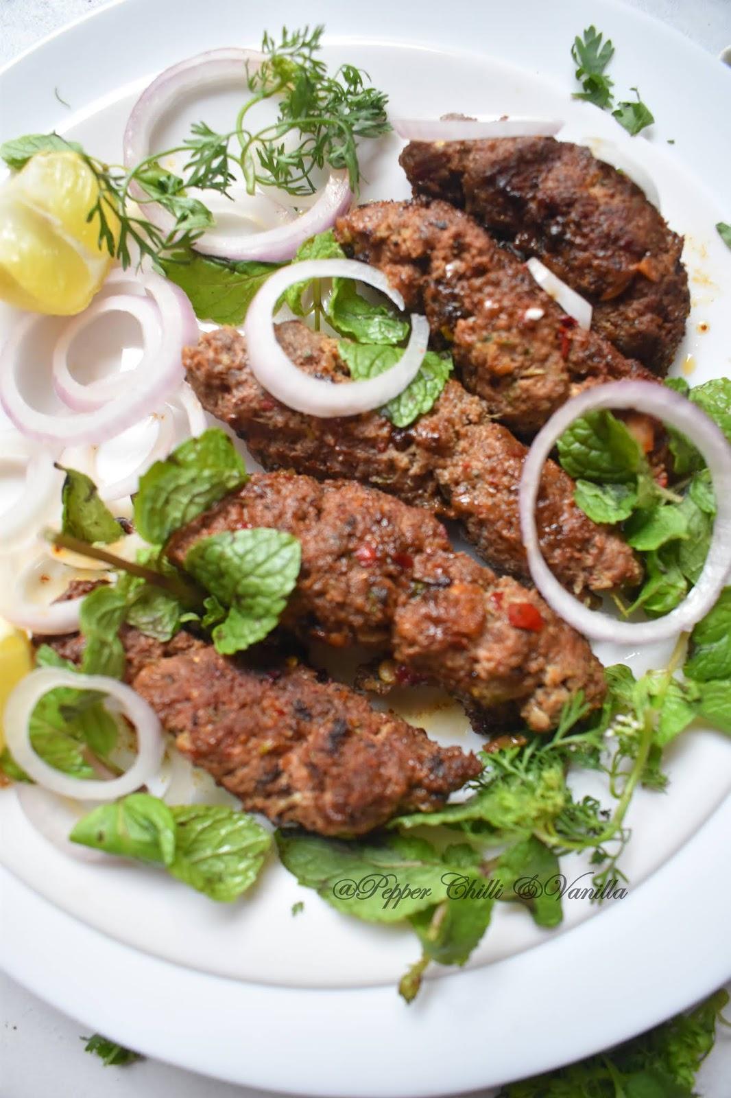 how to make seekh/sheekh kabab/kebab at home