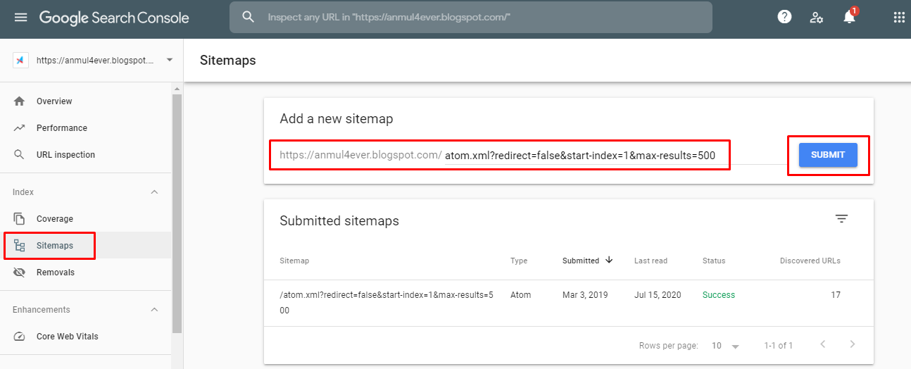 how to add sitemap in google console