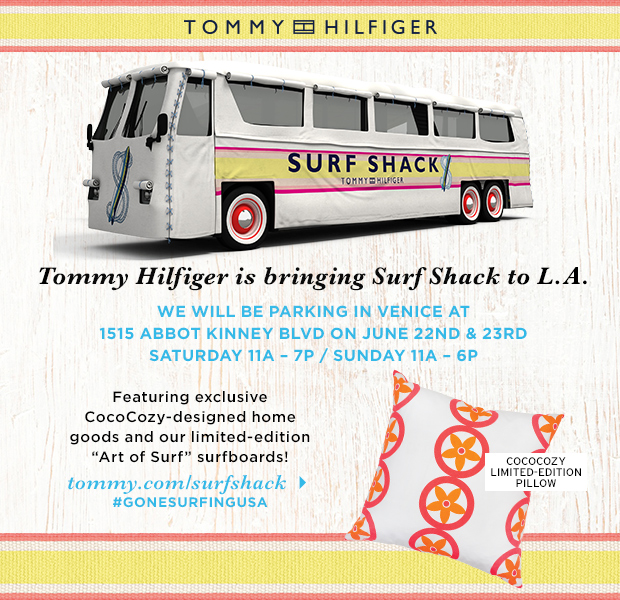 Tommy Hilfiger Suff Shack Pop Up Shop bus Venice Beach