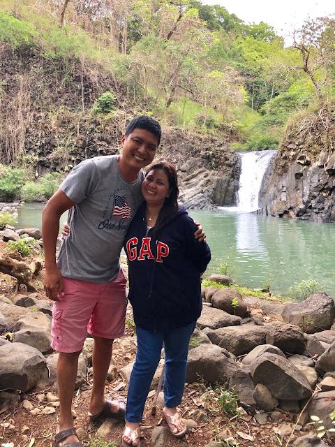 Ate and Kuya at Dunsulan Falls