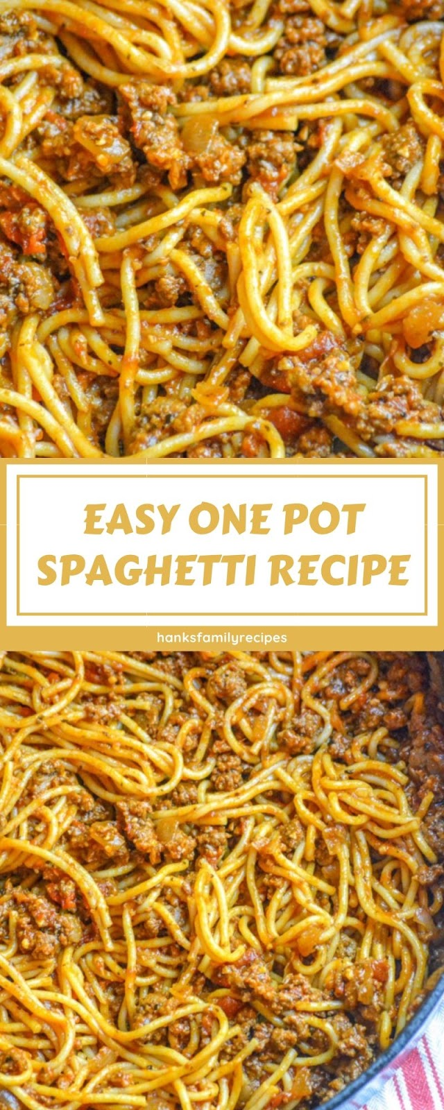 EASY ONE POT SPAGHETTI RECIPE