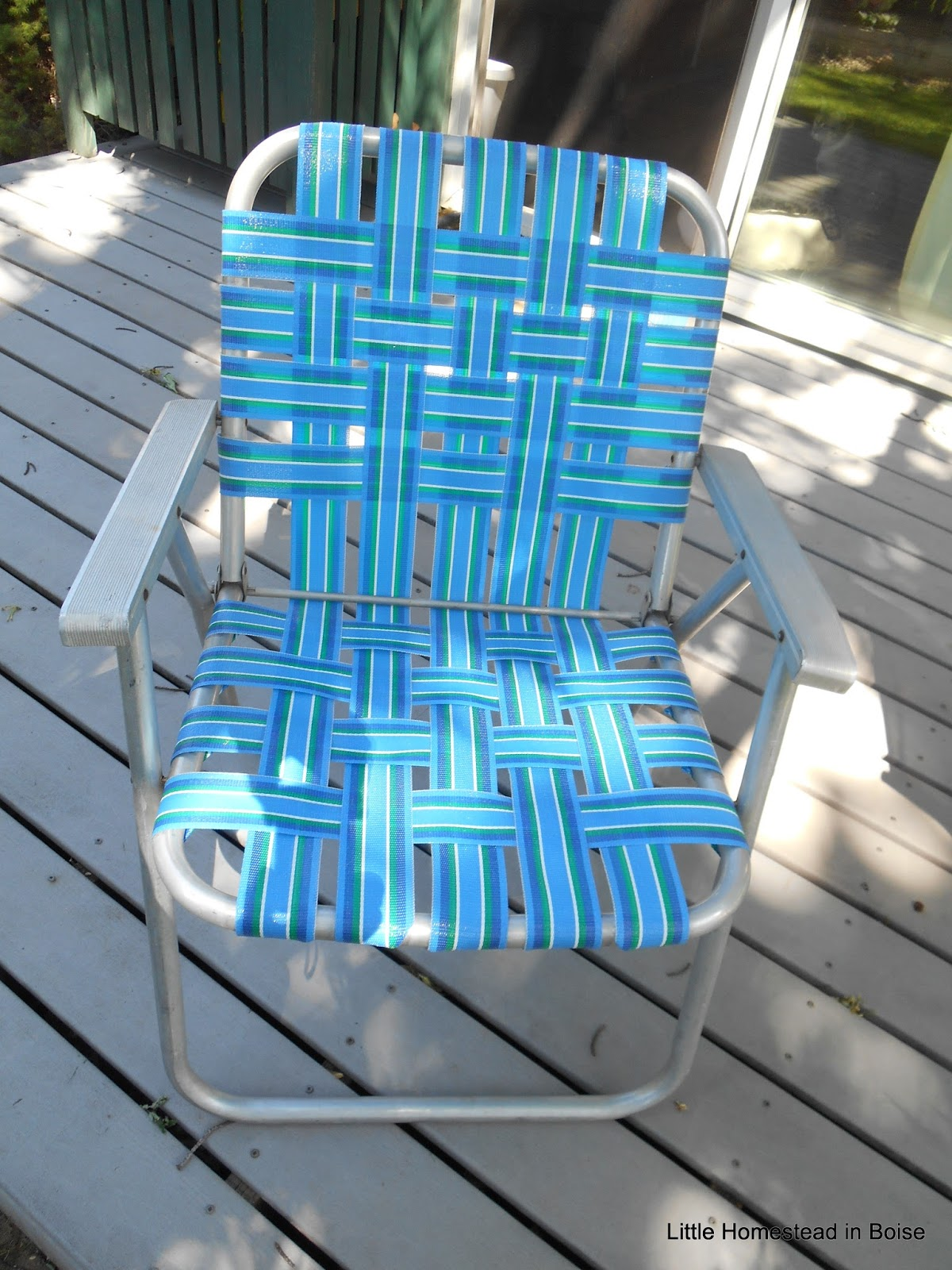 rewebbing a chair beach towels with pocket for lounge little homestead in boise re webbing vintage lawn