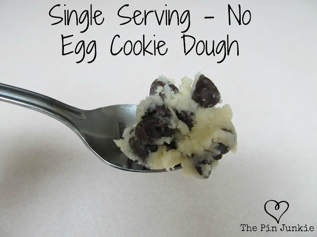 Single Serve Eggless Chocolate Chip Cookie Dough