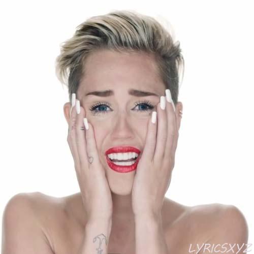 Miley Cyrus Wrecking Ball Lyrics Songlyrics | Party ...