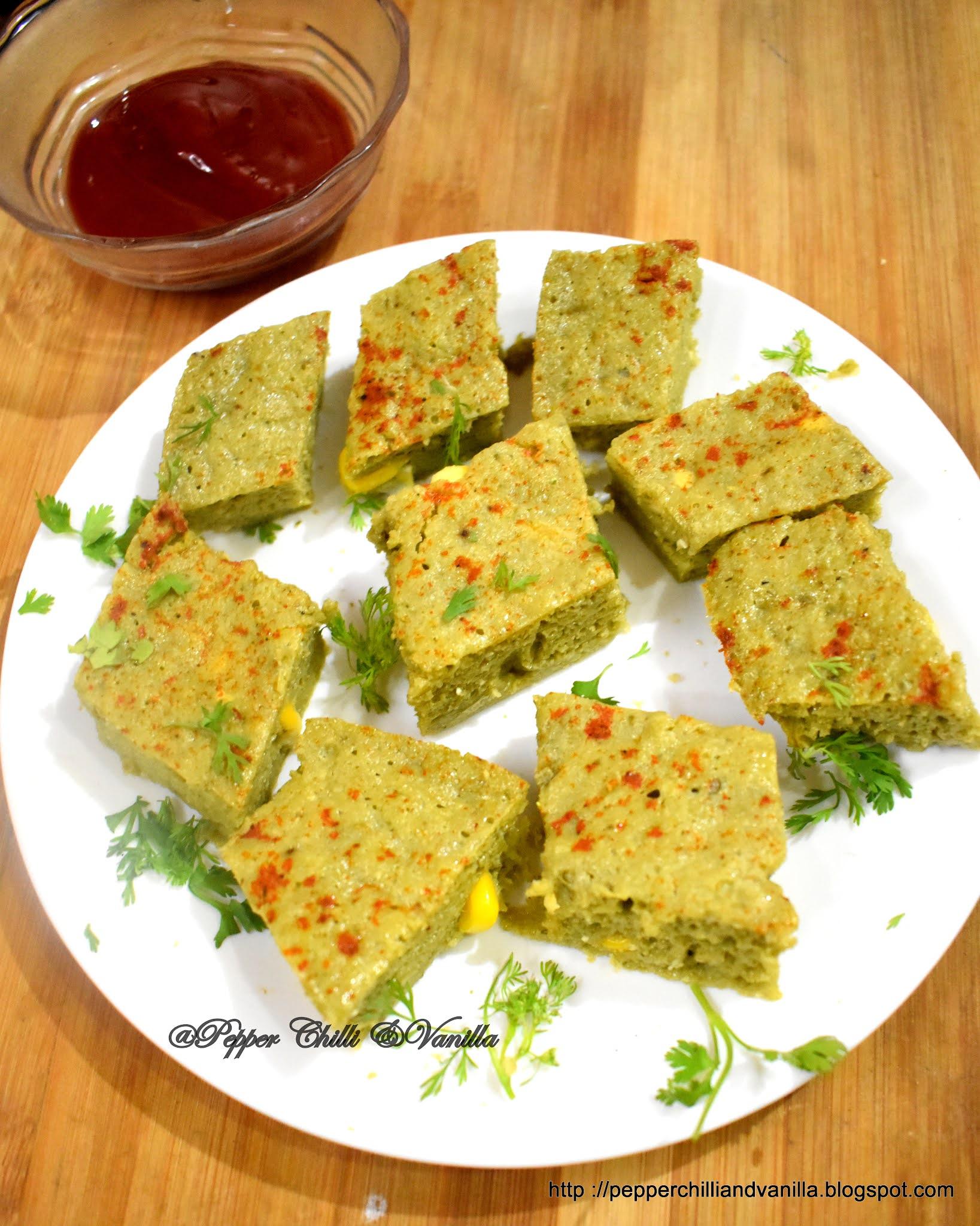 how to make palak corn khatta dhokla