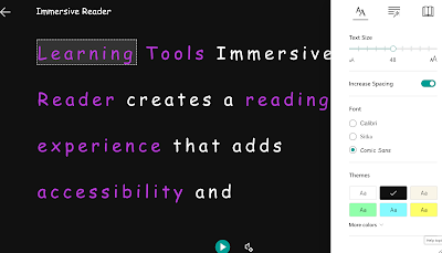 Immersive Reader- Microsoft's Tool for Students with Vision Problems