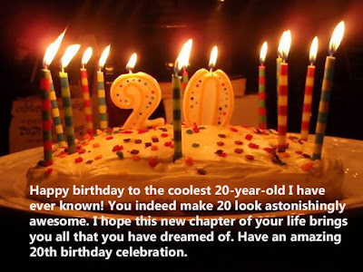 Birthday Wishes for 20 Years Old