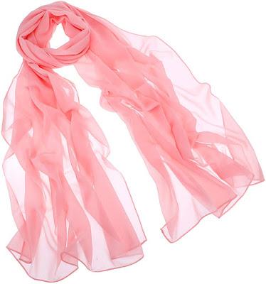 Blush Pink Plain Chiffon Scarves Shawls Wraps