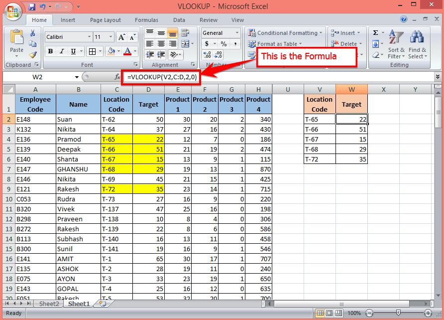 How to use the VLOOKUP Function for Beginers Part 1   Excel Solutions - Basic and Advanced