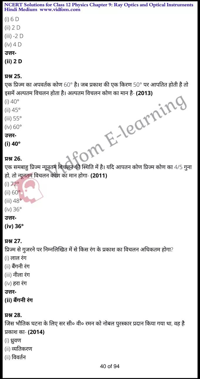 class 12 physics chapter 9 light hindi medium 40