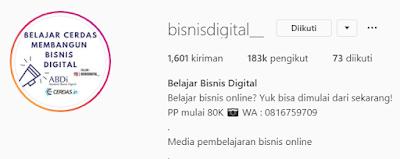 Akun Instagram bisnis rumahan
