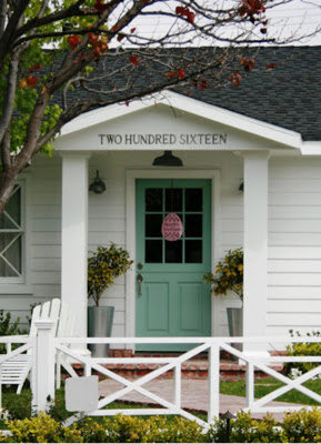 Eclectically Coastal House Numbers Spelled Out