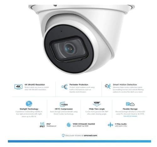 Amcrest UltraHD 4K AI Outdoor Security Camera