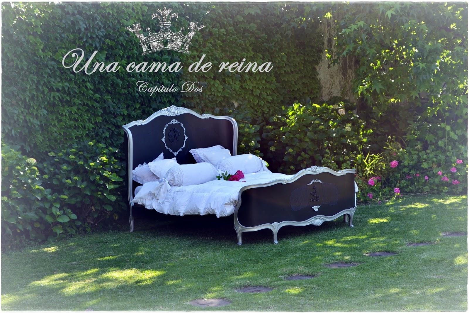 Excepcional Muebles Reina Marco De La Cama De Metal Negro Friso ...