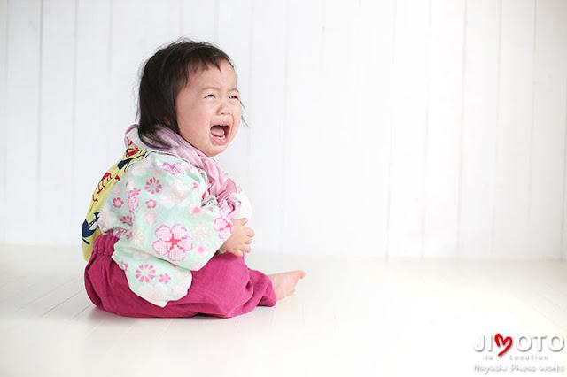 1歳のバースデーフォト