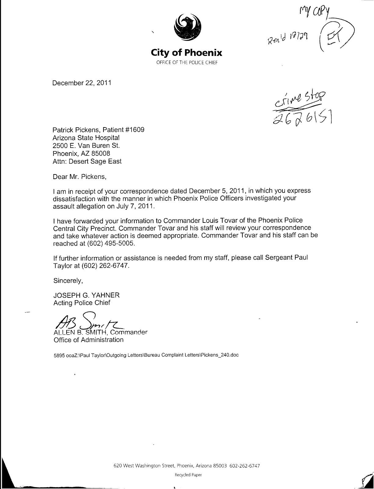 Patient Complaint Response Letter Sample