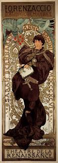 Alphonse Mucha's  1896 lithograph of Lorenzino