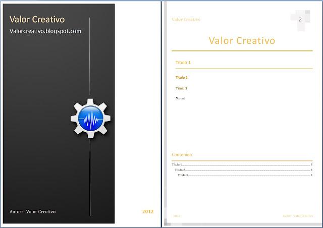 Valor Creativo Plantillas Word 2003, 2007, 2010 y 2013