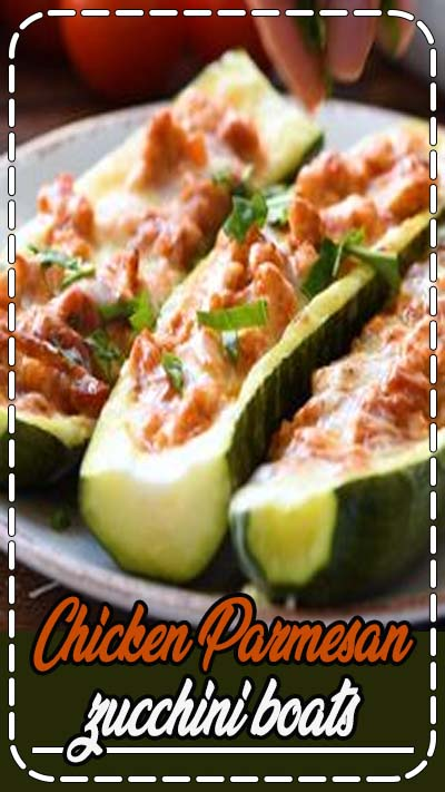 Stuffed zucchini boats filled with the flavors of chicken parmesan. This low carbohydrate, high protein meal will leave you feeling satisfied!