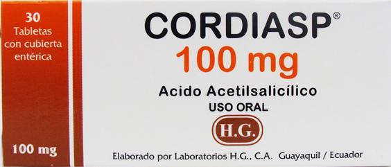 Cordiasp información de medicación