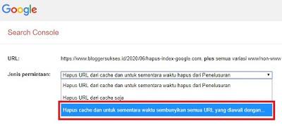 cara menghapus artikel di index google