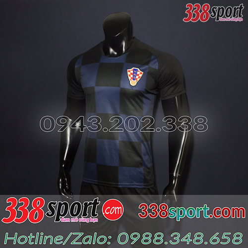 Áo Đội Tuyển Croatia Đen 2019 Sân Khách