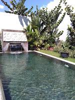 kolam renang air panas sibentang villa