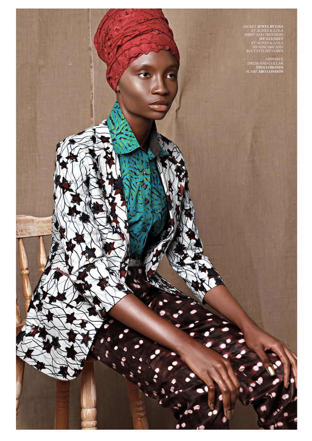 african model in african prints ankara