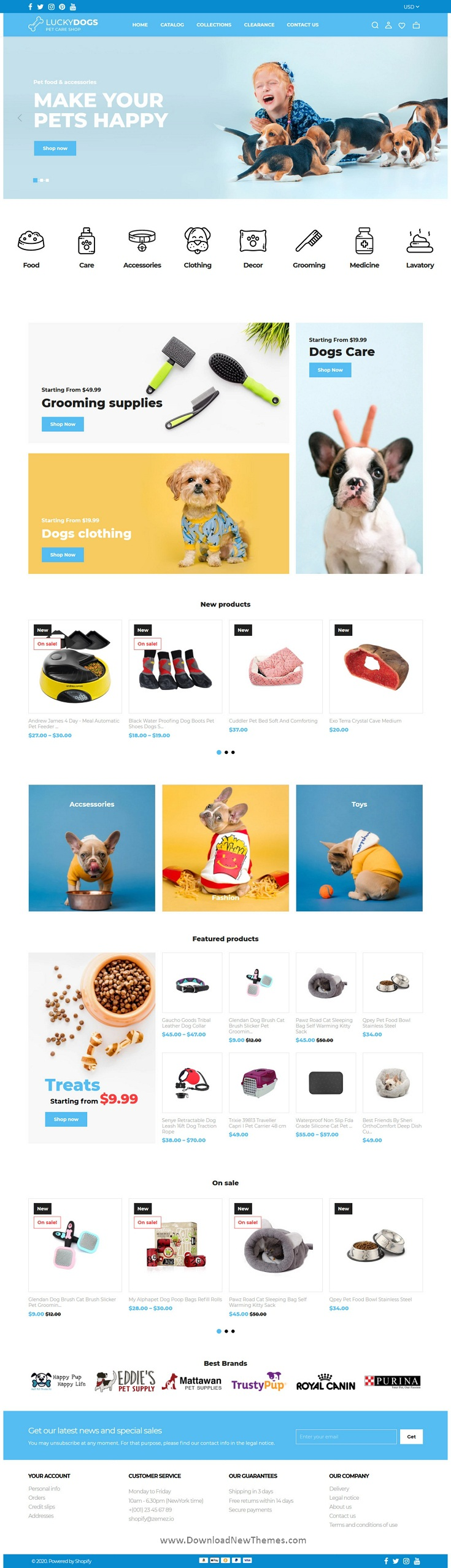 Pet Care Shop Shopify Theme