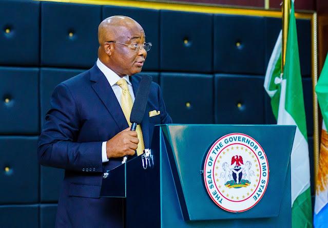 Imo State: Gov Hope Uzodinma Returns To Abuja Amidst Unrest