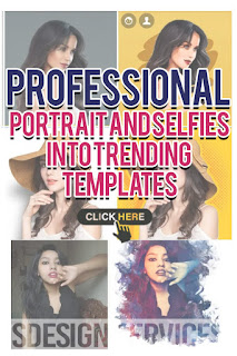 Portrait and selfies into trending templates - trending yellow template - trendy cartoon character