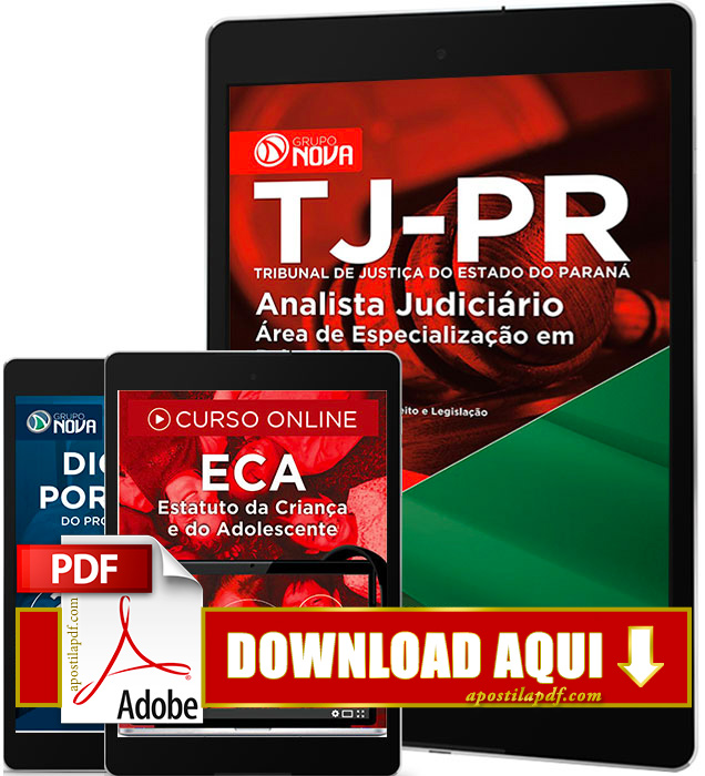 Apostila TJ PR 2016 PDF Download Analista Judiciário Psicologia
