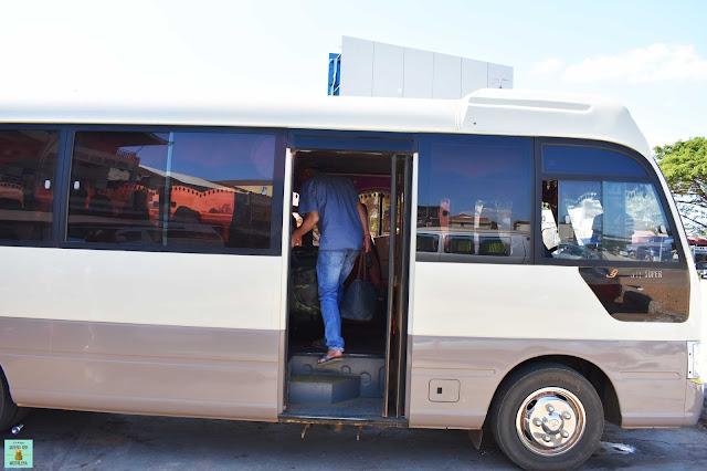Autobús hasta la frontera de Camboya