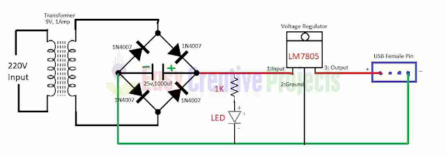 how to make mobile charger circuit diagram