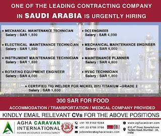 Contracting Company hiring in Saudi Arabia