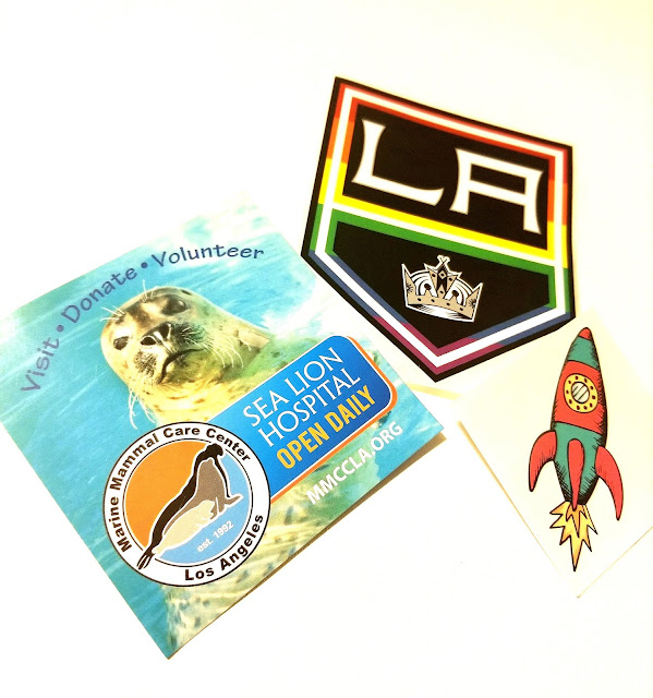 Sea Lion Hospital LA Kings Spaceship Stickers LA Fleet Week 2019 LA Waterfront San Pedro Port of Los Angeles, California