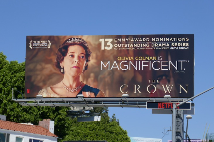 Olivia Colman 2020 Crown Emmy nominee billboard