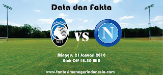 Data dan Fakta Liga Fantasia Serie A Atalanta vs Napoli Fantasi Manager Indonesia