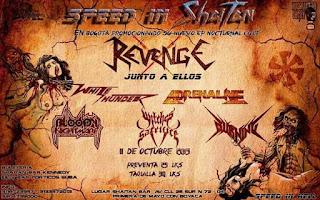 SPEED IN SHAITAN Concierto de REVENGE en Bogotá y muchos más