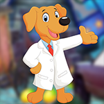 Games4King - G4K Cheerful Doctor Dog Escape Game