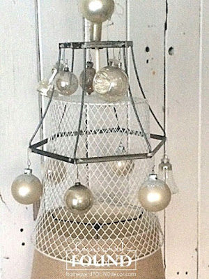 junk, junking, junk tree, thrifted, upcycled, repurposed, wire lampshades, makeover, diy, Christmas tree