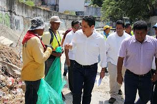 Llama Evodio a ciudadanos a ser corresponsables en la limpieza de cauces pluviales