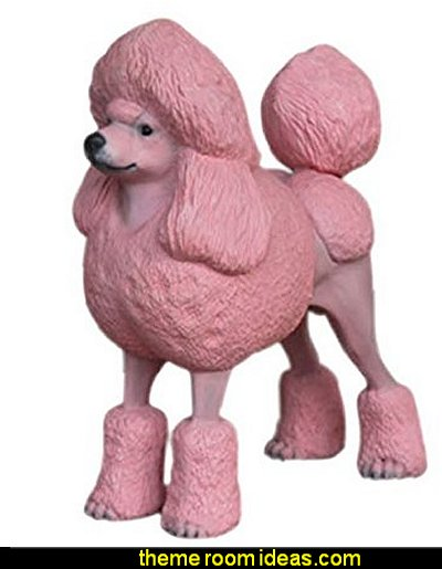 POODLE DOG Statue Prop Display