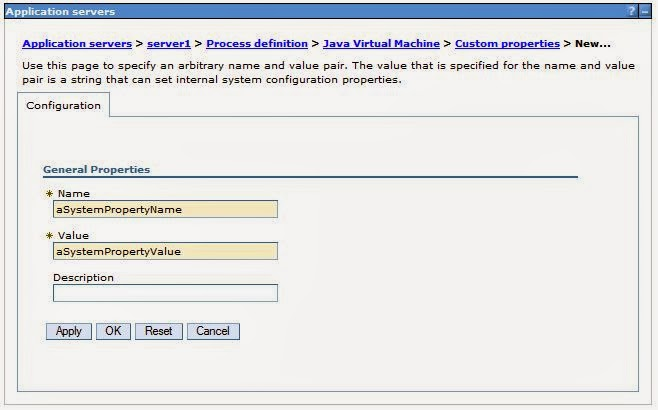 Setting JVM Parameters and Properties in WebSphere | Oliver Rebmann