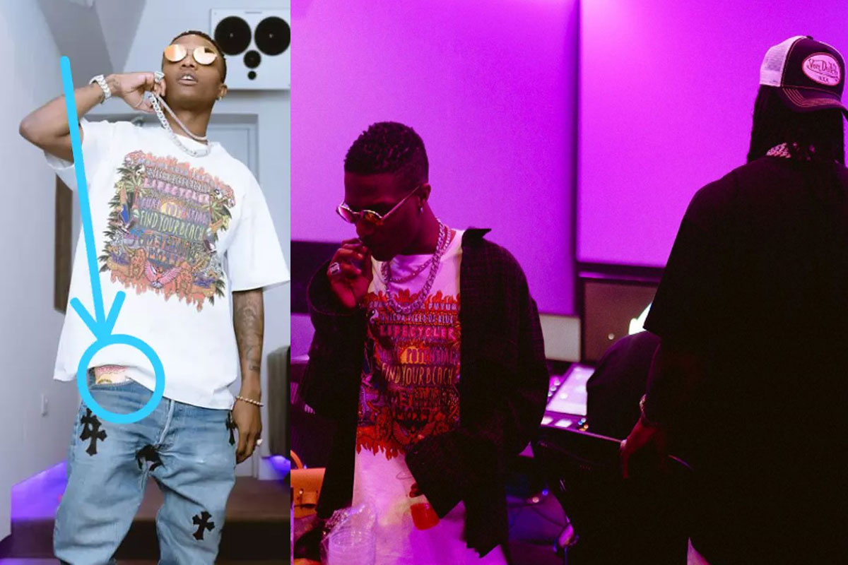 See What Was Spotted In Wizkid's Pocket While Recording With Burna Boy In The Studio (PHOTOS) #Arewapublisize