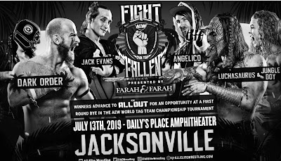 AEW Fight For The Fallen Three-Way Tag Match