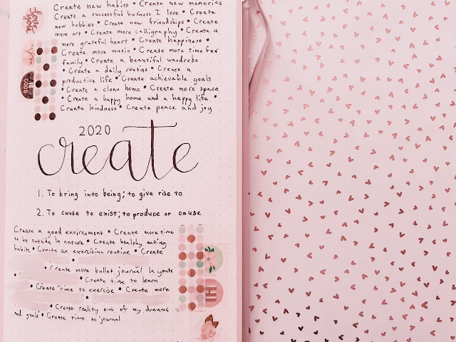 How I am Goal Setting for 2020 in my Bullet Journal