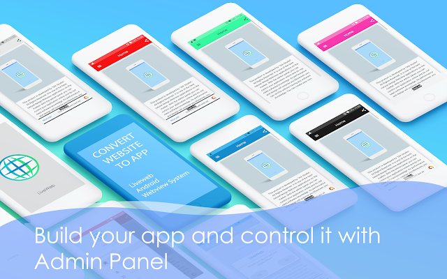 Liveweb Android Webview App With Admin Panel   convert your website to app - 5